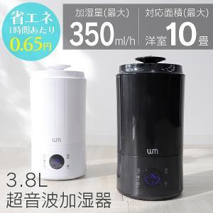 加湿器 超音波式 大容量 3.8L 卓上 インテリア おしゃれ 手入れ簡単