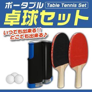 ポータブル 卓球 セット ピンポン 卓球ネット テーブルピンポン ラケット ボール パーティーグッズ ゲーム 景品 スポーツ玩具 おもちゃ