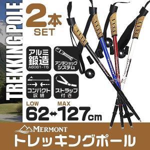 トレッキングポール 2本セット I型 女性用・子供用 ステッキ ストック 軽量アルミ製 登山用杖 (クーポン配布中)|pickupplazashop