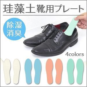 靴 脱臭 インソール シューズドライプレート 珪藻土 消臭  乾燥 除湿 脱臭 カビ対策|pickupplazashop