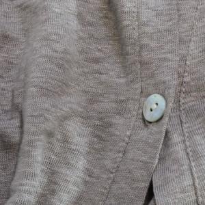 リネンカーディガン レディース 麻100% ドルマン コクーン Vネック一つボタン ロング丈 無地|picot-online|10