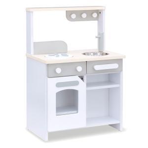 お店屋さんにもなる ままごとキッチン 木製 木のおもちゃ ままごとセット ごっこ遊び cook&store core(コア) グレー/ブルー/ピンク