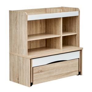 子供用机 キッズデスク 木製 キッズテーブル ミニテーブル 収納付き  引き出し付き ミニデスク 3点セット primo(プリモ) 3タイプ対応の写真