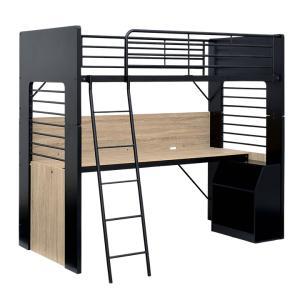 ※安全上の理由により、ロフトベッドとしてご使用の際は必ずデスクとラックを固定した状態でご使用いただき...