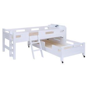 耐荷重700kg/耐震/業務用可 二段ベッド 2段ベッド 親子ベッド  GSOLID 宮付き キャス...