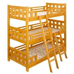 3段ベッド 三段ベッド Lowタイプ ノース5 高さ 199cm 2色対応 宮無の写真