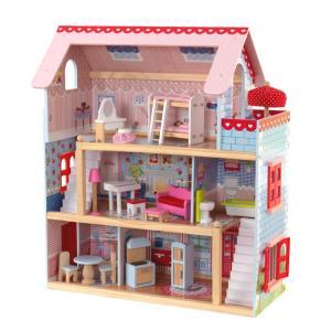 正規品 おもちゃ ドールハウス お人形遊び 家具付きハウス セット コンパクト KidKraft チ...
