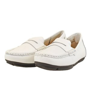 レディース 靴 カジュアルシューズ マドラス モデロ ペタンコ ドライビング ローファー 送料無料 ホワイト DML7005WHT|pieds