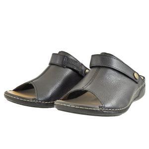 レディース 靴 ミュール ドーラ 日本製 幅広 4E 撥水 抗菌 バックベルト コンフォートサンダル 送料無料 ブラック DolaASW8BLK pieds