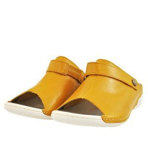 レディース 靴 ミュール ドーラ 日本製 幅広 4E 撥水 抗菌 バックベルト コンフォートサンダル 送料無料 イエロー DolaASW8YEL pieds