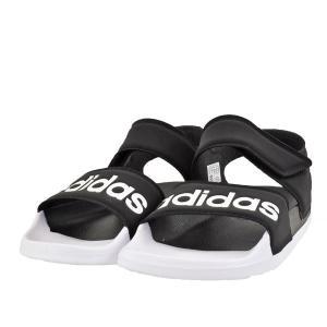 レディース 靴 サンダル アディダス アディレッタ スポーツサンダル コアブラック/フットウェアホワイト/コアブラック(ブラック/ホワイト) F35416|pieds