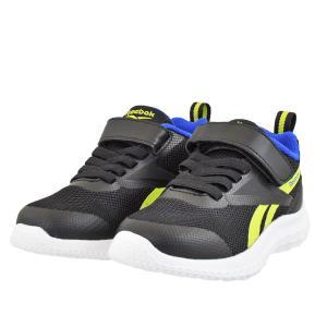 ジュニア キッズ 靴 スニーカー リーボック ラッシュランナー 面テープ(マジジックテープ) ブラック/イエローフレア/コートブルー FY4052|pieds