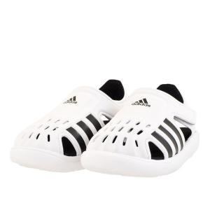 キッズ ベビー 靴 サンダル アディダス スィムウォータサンダル1 フットウエアホワイト/コアブラック/フットウェアホワイト(ホワイト/ブラック) FY6043|pieds