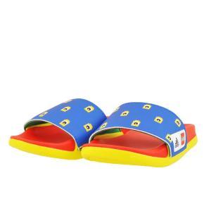 キッズ ジュニア 靴 サンダル アディダス アディレッタ CFK レゴ LEGO ショックブルー/レッド/イエロー(ブルー/レッド/イエロー) FZ2866|pieds