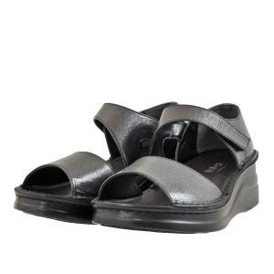レディース 靴 サンダル インコルジェ 日本製 オープントゥ 厚底 フットベット ストラップ セパレートサンダル 送料無料 ブラック Incholje4142BLA|pieds