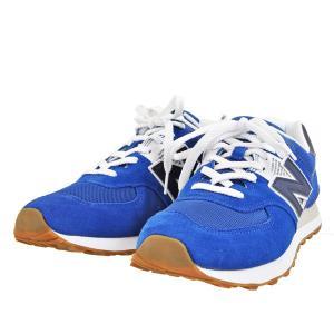 メンズ レディース 靴 スニーカー ニューバランス クラシックスタイル new balance ML574 D 送料無料 ブルー ML574SR2 pieds