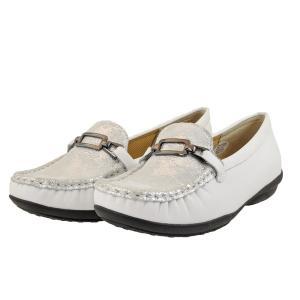 レディース 靴 カジュアルシューズ マドラス ミッシー ビット付き ローファー 送料無料 シルバーコンビ MMD7500SILC|pieds