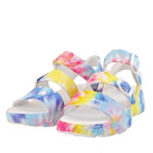 レディース 靴 サンダル スケッチャーズ ディーライツ 超軽量 厚底 スポーツサンダル マルチ SKECHERS111068MLT|pieds