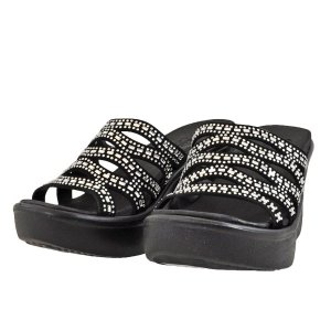 レディース 靴 サンダル ミュール スケッチャーズ ルクスフォーム 厚底 ブラック SKECHERS33474BLK|pieds