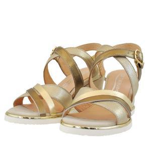 レディース 靴 サンダル ソフトウェーブス 厚底 ウェッジソール ストラップ 送料無料 ゴールド SW76904GOL|pieds