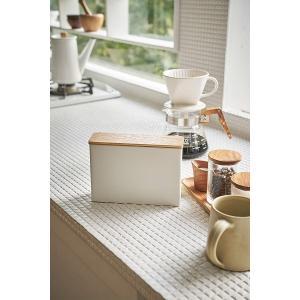 ほこりをガード 蓋付き コーヒー フィルター ケース ペーパーフィルター トスカ ホワイト