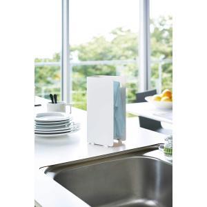 キッチン収納 キッチンラック ゴム手袋収納ラック ホワイト 吸盤 スリム シンプル キッチン雑貨