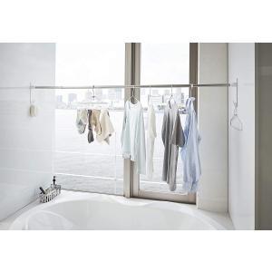 マグネットバスルーム物干し竿ホルダー2個組 浴室乾燥 室内干し 簡単取り付け ホワイト ブラック 磁石 お風呂場|piena