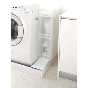 洗濯機防水パン上ラック 洗濯機横物置トレー 洗濯機横収納 ホコリをガード 両面仕様 洗濯機隙間 便利 ホワイト ブラック|piena