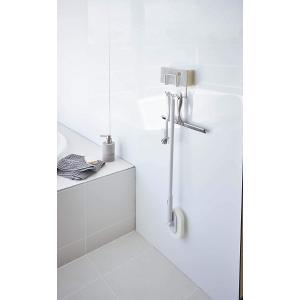 マグネットバスルームクリーニングツールホルダー 浴室ラック お風呂掃除収納 壁面貼り付け 速乾 ホワイト ブラック 磁石|piena