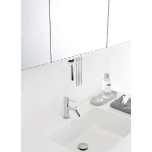 洗面戸棚下歯ブラシホルダー 歯ブラシ置き トゥーススタンド 浮かせて収納 ネジで固定 速乾 ホワイト ブラック 清潔 引っ掛ける|piena
