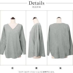 Tシャツ/レディース/コットン100/Vネック...の詳細画像2