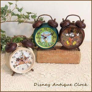 時計 ディズニー アンティーク 目覚まし時計 おしゃれ レトロ|piglet