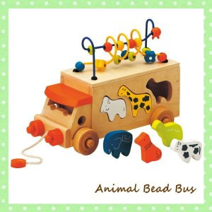 即出荷 アニマルビーズバス 806364 知育玩具 木のおもちゃ パズル エドインター 指あそび 3...