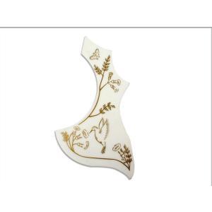 Gibson アコギ専用 ピックガード/ホワイト鳥