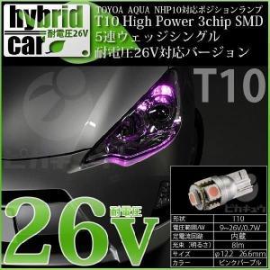 1-B-8)トヨタ アクア (NHP10系 前期)LEDポジションランプ(競技車専用)T10 Hig...