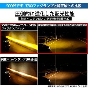 単 SCOPE EYE L3400 LEDフォグキット スコープアイL3400 LEDフォグランプキット 明るさ3400ルーメン  イエロー3000K  H8/H11/H16兼用・HB4・PSX26|pika-q|03