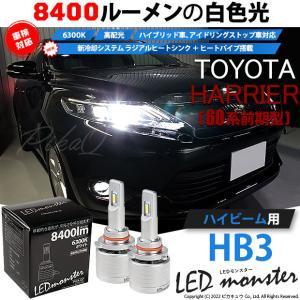 15-C-1)ハリアー(ZSU60系 前期モデル)LEDハイビームランプ LED MONSTER L7100 全光束7100ルーメン ホワイト6200K HB3(9005)|pika-q