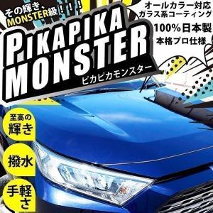 39-A-1)超撥水 車用 ガラス系コーティング剤 Pika Pika monster-ピカピカモンスター- 本格プロ仕様 オールカラー対応 安心の純国産|pika-q