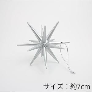 クリスマスツリーオーナメント シルバー 銀 サイズ(中) Mサイズ 1個 クリスマスの星 ベツレヘムの星 精巧&木製 クリスマスオーナメント pika-q