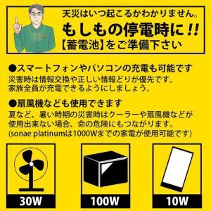 数量限定値下げ)50-C-1)ポータブル電源 大容量 42,000mAh/100W AC100V USB急速充電 保証1年 sonae-ソナエ- mini   防災|pika-q|02
