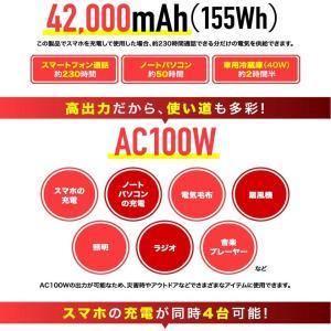 数量限定値下げ)50-C-1)ポータブル電源 大容量 42,000mAh/100W AC100V USB急速充電 保証1年 sonae-ソナエ- mini   防災|pika-q|06