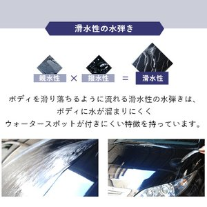 ガラスコーティング 車 ガラスコーティング剤 ピカピカレイン プレミアム 滑水性 洗車 カーワックス TOP-PREMIUM|pika2rain|11