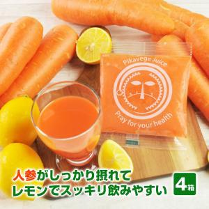 にんじんレモン冷凍ジュース 4箱 (100c×120p)(にんじんジュース)(冷凍)(無農薬人参) pika831