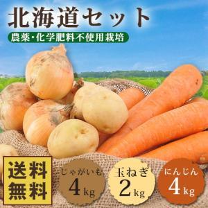 野菜セット 北海道 10kg 送料無料 無農薬にんじん じゃがいも 玉ねぎ 人参 にんじん 訳あり