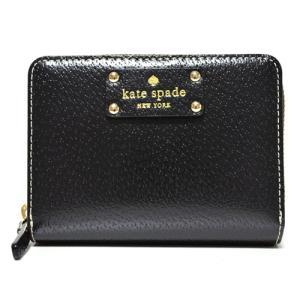 ケイトスペード 財布 katespade レザー  コンパクト財布 ブラック 1745|pike-st
