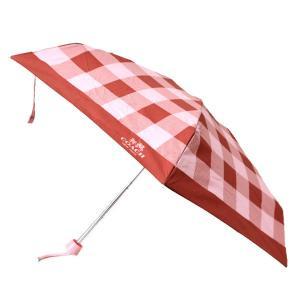 コーチ 傘 COACH ブロックチェック ミニ アンブレラ 折りたたみ傘 ブラッシュマルチ 27403 pike-st