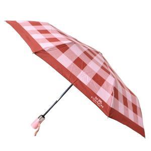 コーチ 傘 COACH ブロックチェック 折りたたみ傘 アンブレラ ブラッシュマルチ 27404 pike-st
