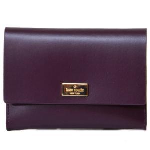 ケイトスペード 財布 katespade  バイカラー レザー 二つ折り コンパクト 財布 マホガニーマルチ 2865|pike-st