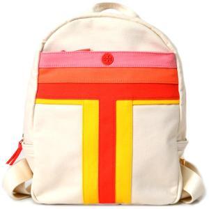 トリーバーチ バッグ TORY BURCH キャンパス レザー バックパック リュックサック ナチュラルマルチ 36974|pike-st