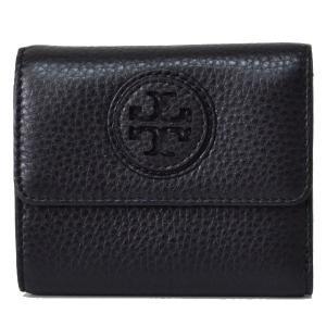 トリーバーチ 財布 TORY BURCH マリオン レザー ミニ 三つ折り財布 ブラック 37064|pike-st